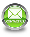 Contact us (email icon) glossy green round button
