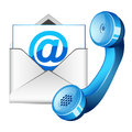 Contact Us Icon Royalty Free Stock Photo