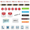 Contact us icons Royalty Free Stock Photography