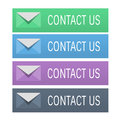 Contact us menu buttons Royalty Free Stock Photography