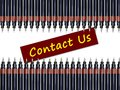 Contact us with pens Stock Image