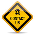Contact us sign Stock Image