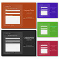 Contact Web Forms Royalty Free Stock Image