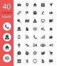 Contact web icons. Telephone, home address, email and website business contacts vector symbols isolated