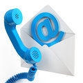 Contacts conceptual image with telephone and email Royalty Free Stock Photo