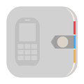 Contacts icon address book illustration on white background Royalty Free Stock Images