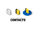 Contacts icon in different style Royalty Free Stock Photo
