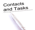 Contacts and tasks image of Stock Images