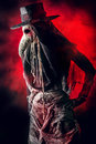 Contagion terrible plague doctor medieval europe halloween Royalty Free Stock Image