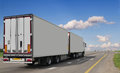 Container on the big highway Royalty Free Stock Photo