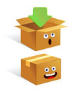 Container box icon vector illustration of a carton Royalty Free Stock Photography
