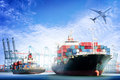 Container Cargo Ship And Cargo...