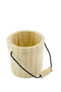 container, package, pot with handle wood Royalty Free Stock Photo