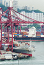 Container port in hong kong Stock Photography