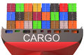 Container ship, cargo concept Royalty Free Stock Photo
