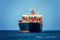 Container ship cargo in ocean Stock Photography
