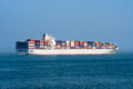 Container ship large at sea Stock Photography
