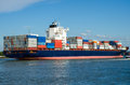 Container ship in the port of rotterdam holland Royalty Free Stock Photography