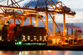 Container terminal activity Royalty Free Stock Photography