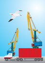 Container transportation Royalty Free Stock Images