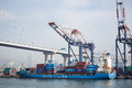 Container truck SITC Fangcheng under loading