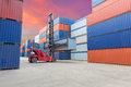 Containers in the port Royalty Free Stock Photo