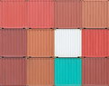 Containers shipping background of industrail freight Royalty Free Stock Photos