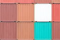 Containers shipping background of industrail freight Stock Images