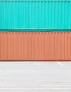 Containers shipping background of industrail freight Stock Photography