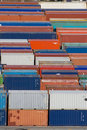 Containers stack VI Royalty Free Stock Photo