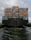 Containership leaving Stock Photography
