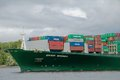Containership in port of hamburg container ship Royalty Free Stock Photography