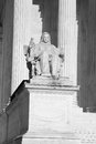 The Contemplation of Justice statue Royalty Free Stock Photo
