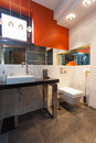 Contemporarary bathroom interior Stock Photos