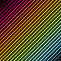 Contemporary abstract background with stripes in rainbow colors with a neon glowing effect Royalty Free Stock Images