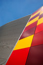Contemporary architecture wall colorful facade of a building Stock Photography