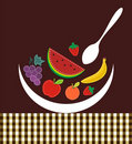 Contemporary composition with fruits illustration Stock Photography