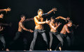 Contemporary Dance Theatre at the scene Royalty Free Stock Photo