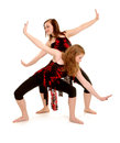 Contemporary Female Dancers Jazz Duet Stock Photos