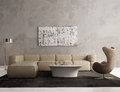 Contemporary grey living room interior Royalty Free Stock Photo