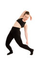 Contemporary or modern female dancer mid routine teen captured in stylized Stock Photos
