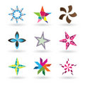 Contemporary Star Icons Stock Photo