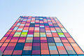 Title: Contemporary urban  colorful architecture
