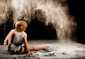 Contemporary dance performer back Royalty Free Stock Photo
