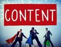 Content blogging communication publication concept Stock Photo