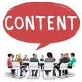 Content blogging communication publication concept Royalty Free Stock Images