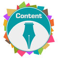Content Colorful Abstract Shapes Circular