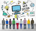 Content creativity graphic webdesign webpage concept concepts Stock Photography