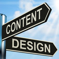 Content design signpost means message and graphics meaning Royalty Free Stock Photos