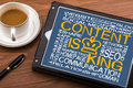 Content is king on touch screen Royalty Free Stock Photo